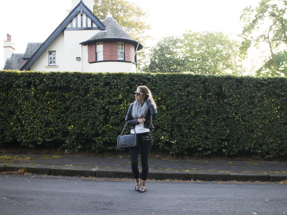 Zara Croc and Chain City Bag 1
