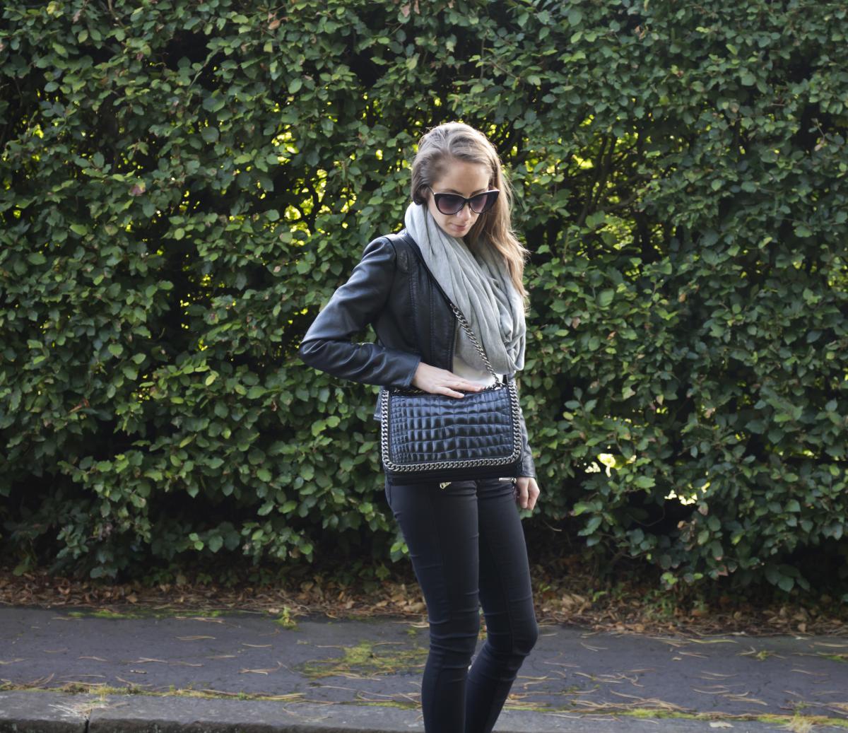 Zara Croc and Chain City Bag 17