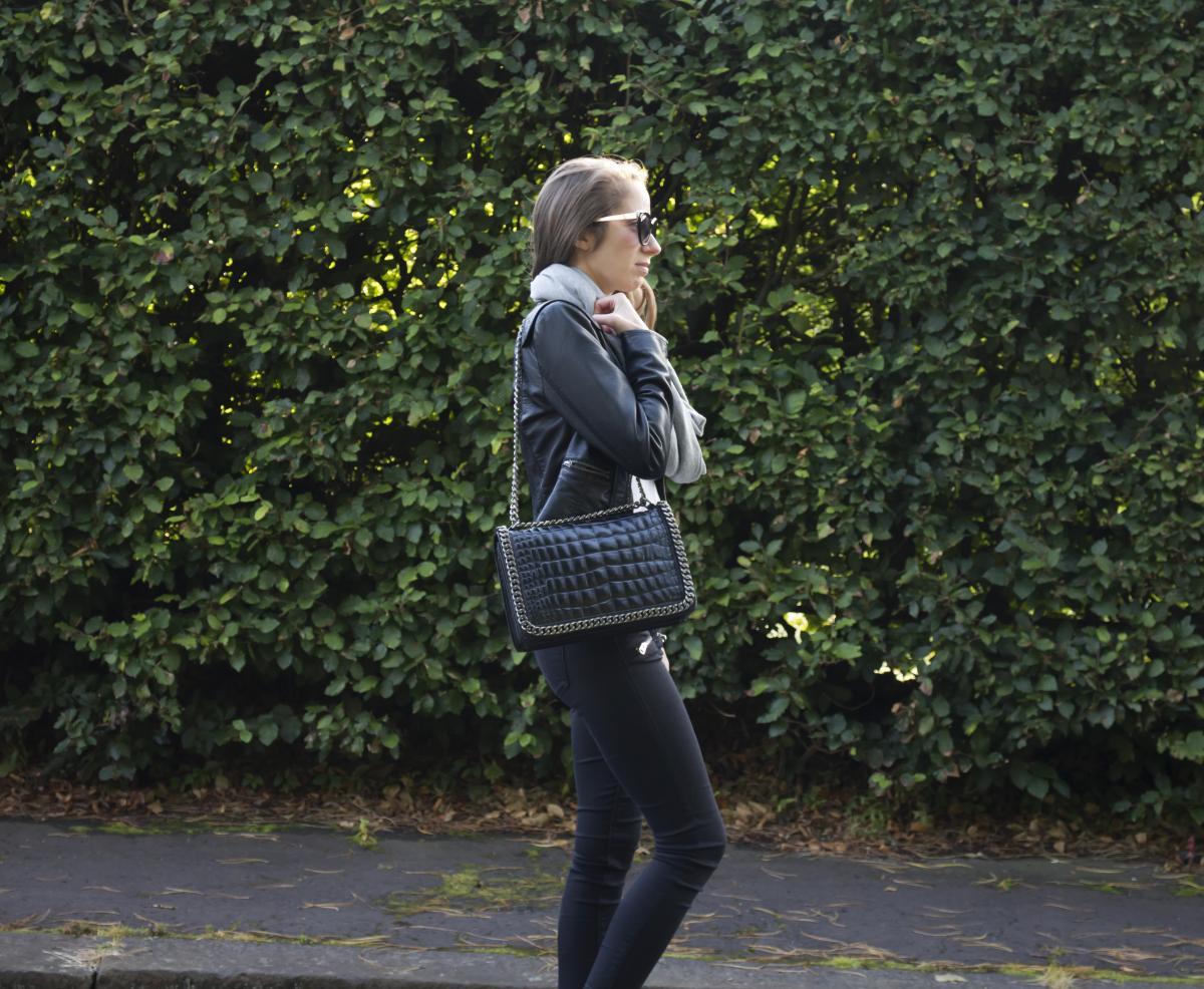 Zara Croc and Chain City Bag 18