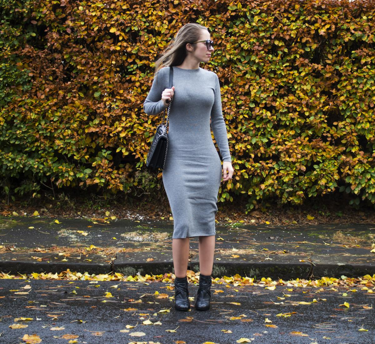 Forever 21 Grey Sweater Dress 12