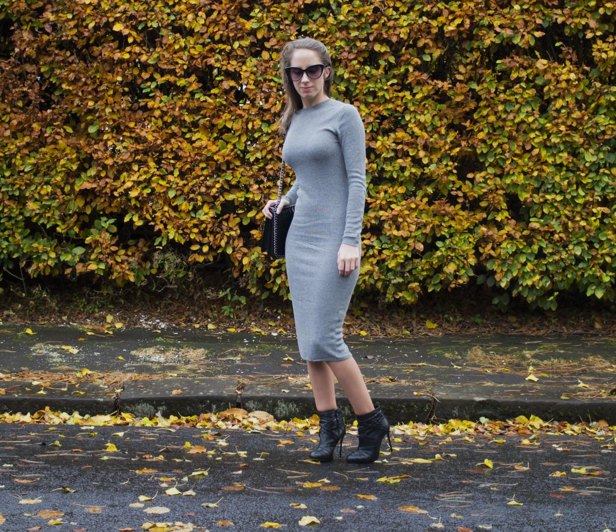 Forever 21 Grey Sweater Dress 4