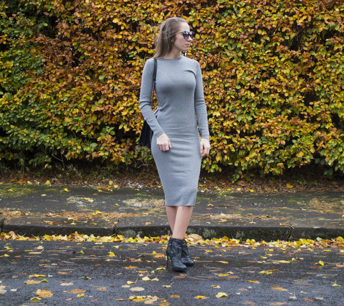 Forever 21 Grey Sweater Dress 7