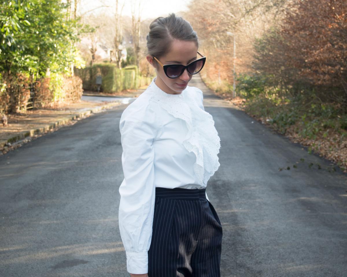 Petite-Paulina---Zara-White-Lace-Shirt-13