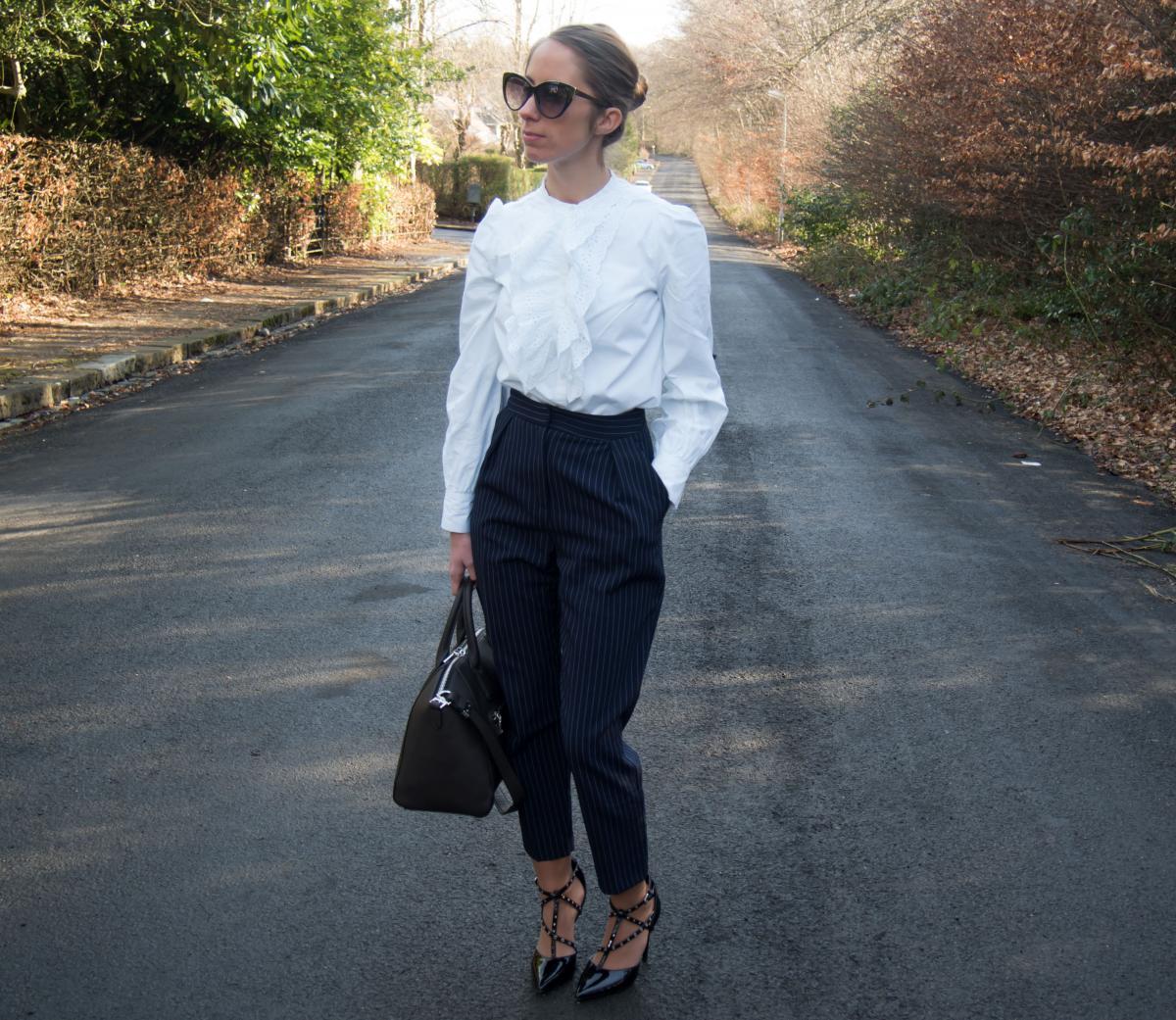 Petite-Paulina---Zara-White-Lace-Shirt-3