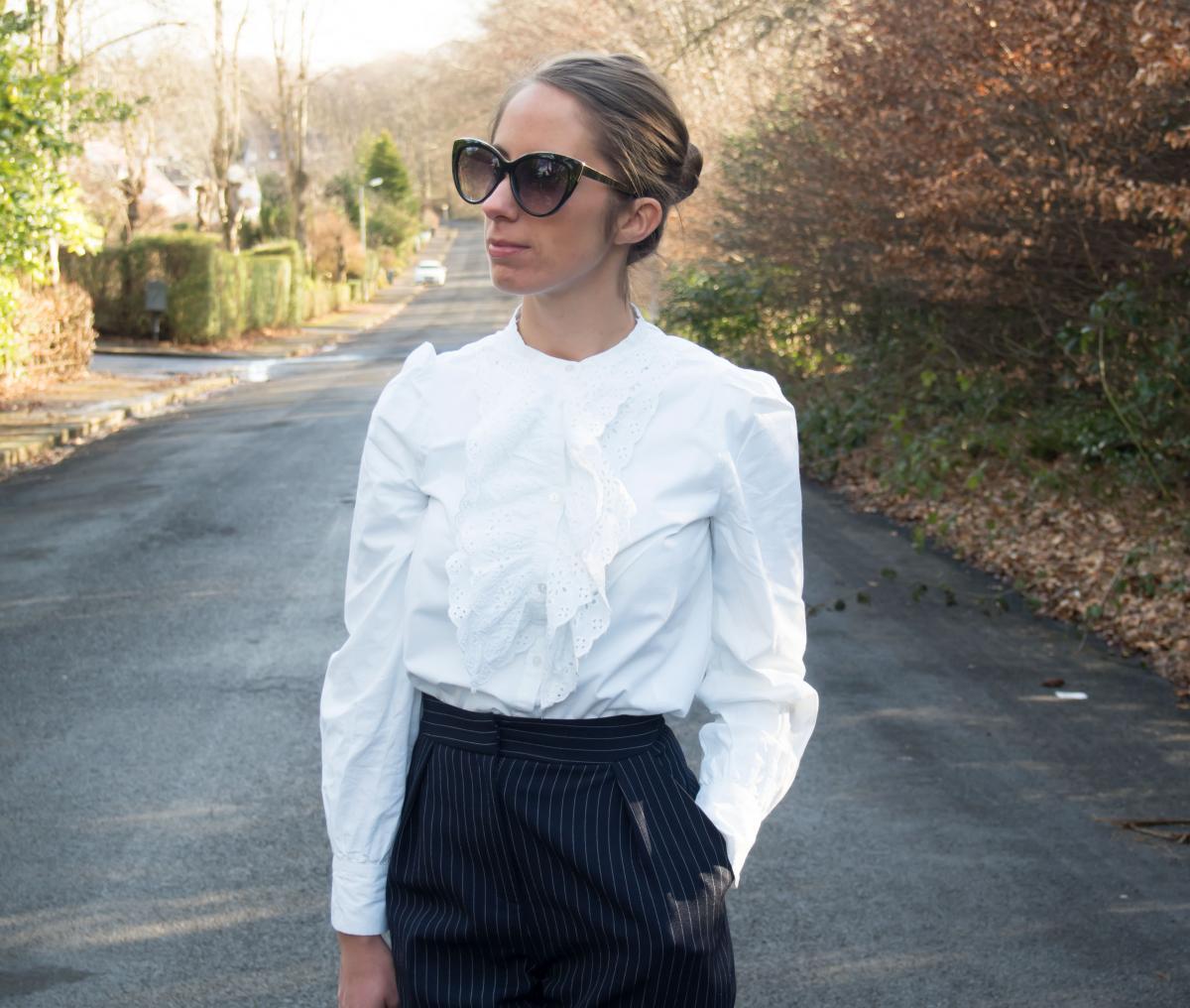 Petite-Paulina---Zara-White-Lace-Shirt-9