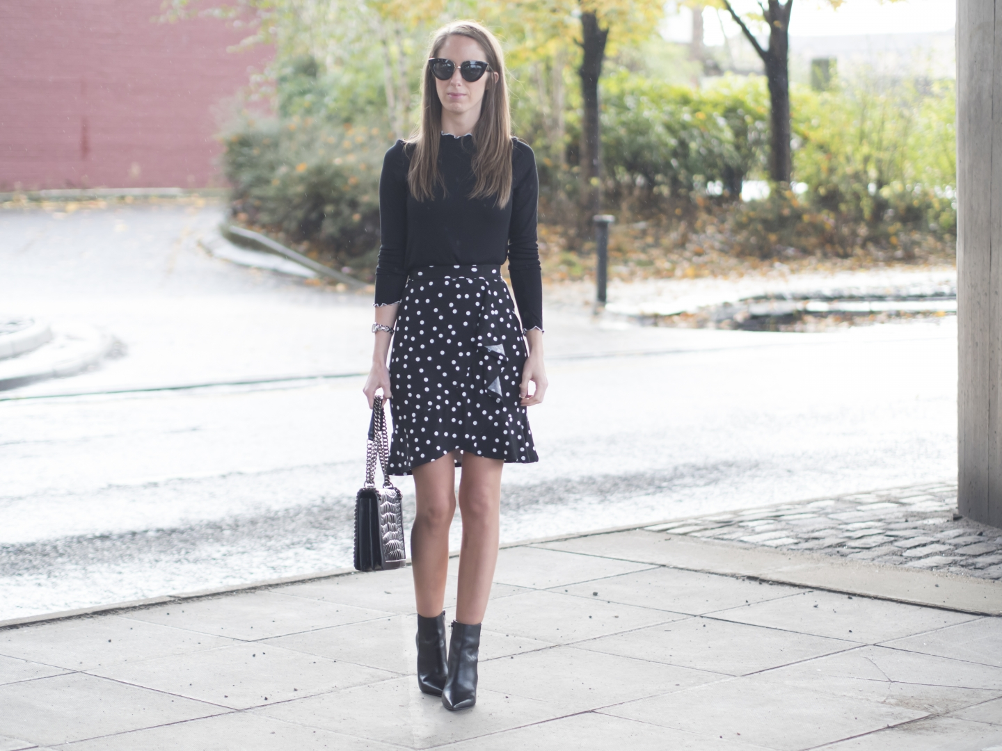 Polka Dot Wrap Skirt