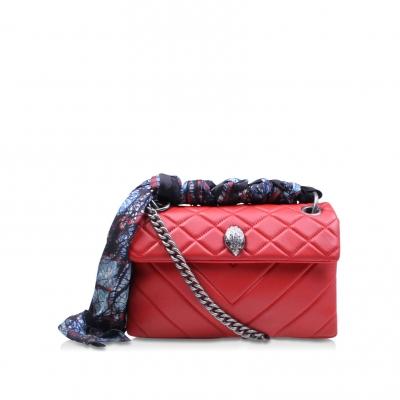 Leather Kensington Bag Red