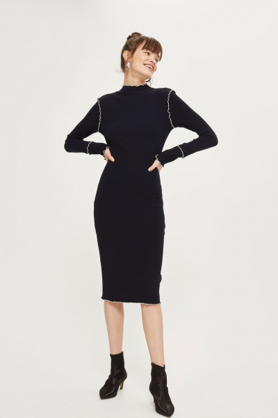 Frill Edge Bodycon Dress
